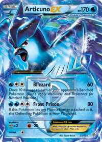 Articuno-EX from Plasma Storm