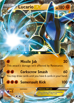 Lucario-EX from Furious Fists