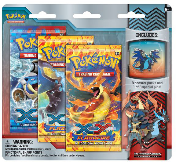 Mega Charizard X Pin in Mega Evolution Collector Pin 3-Pack