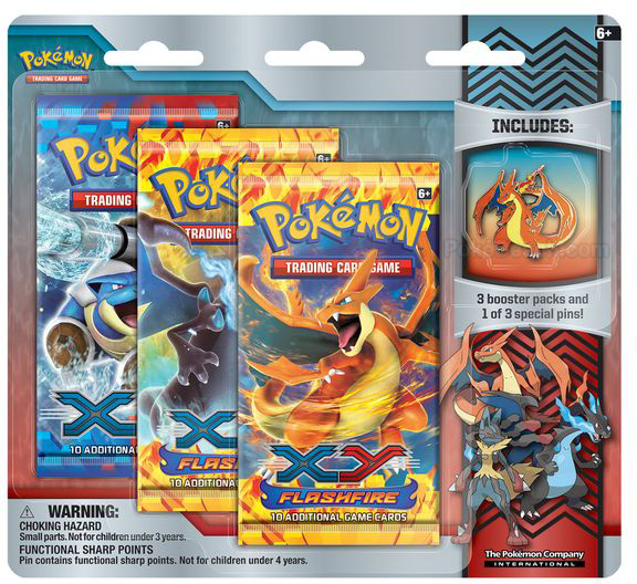 Mega Charizard Y Pin in Mega Evolution Collector Pin 3-Pack