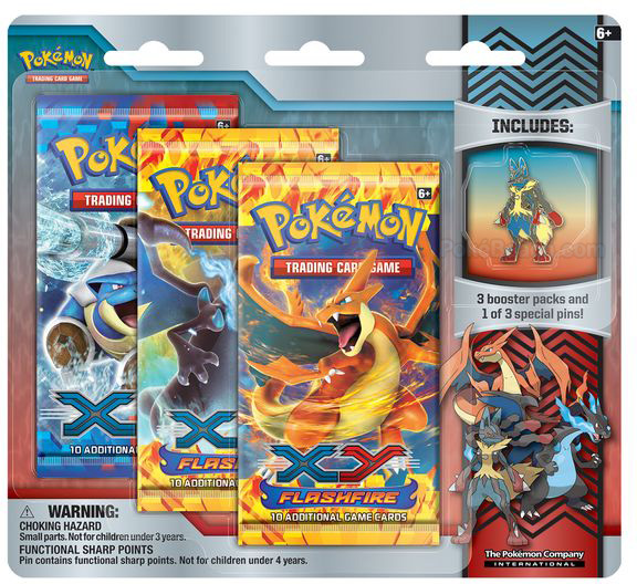 Mega Lucario Pin in Mega Evolution Collector Pin 3-Pack