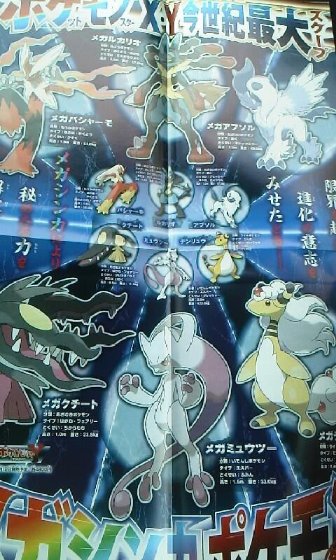 Mega Evolutions in CoroCoro