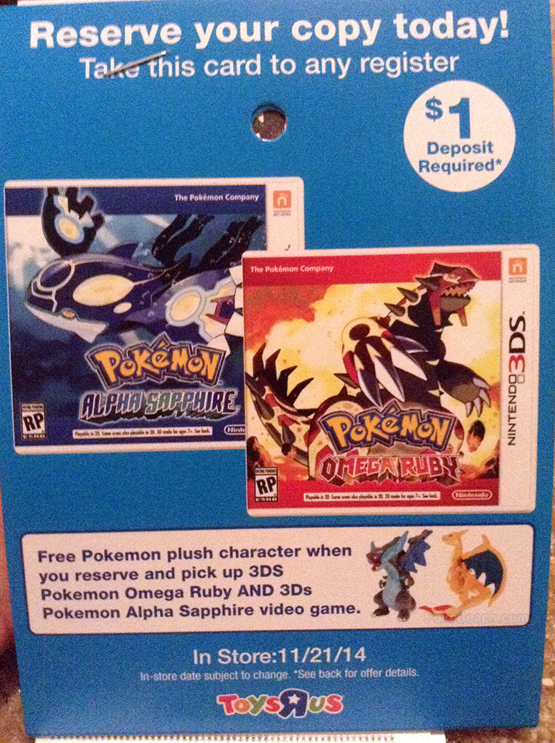 Charizard Plushes for Omega Ruby Alpha Sapphire Preorder Bonus