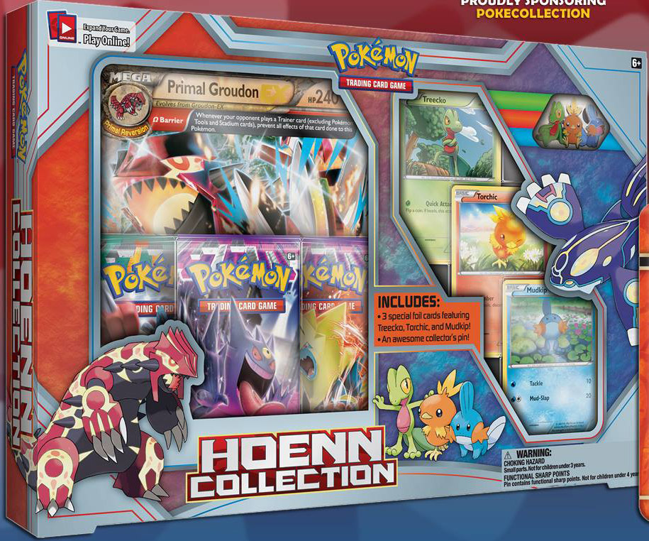 Hoenn Collection Box with Primal Groudon and Primal Kyogre