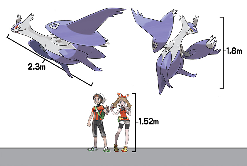 Mega Latios and Mega Latias Height Comparison in Omega Ruby and Alpha Sapphire