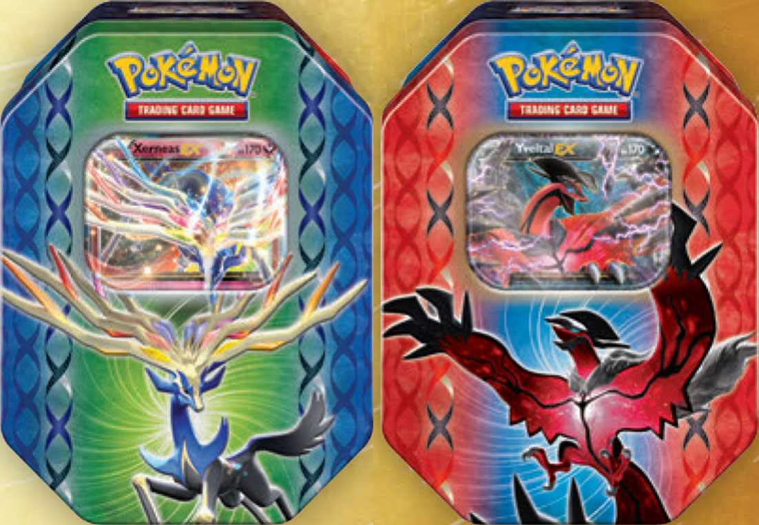 Fall 2014 Pokemon Tins Featuring Xerneas-EX and Yveltal-EX