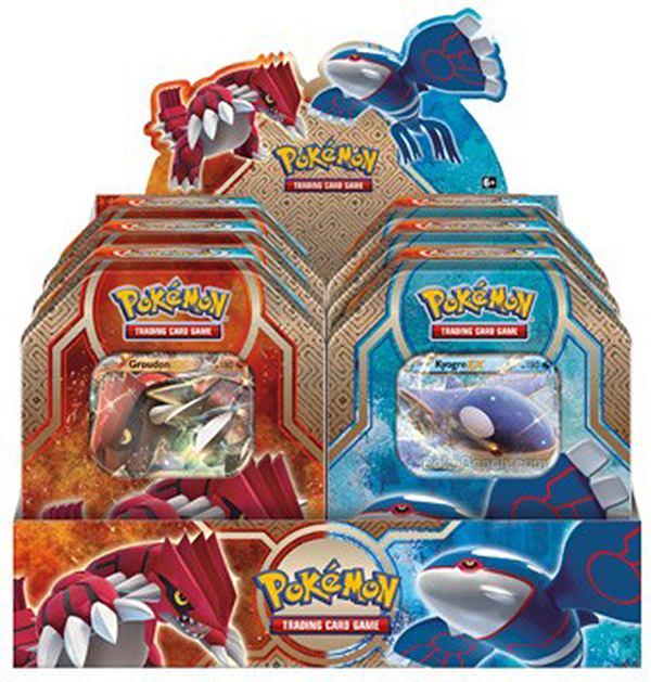 Legends of Hoenn Tins Featuring Groudon-EX and Kyogre-EX